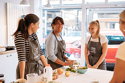 group making dim sum in a cookery workshop