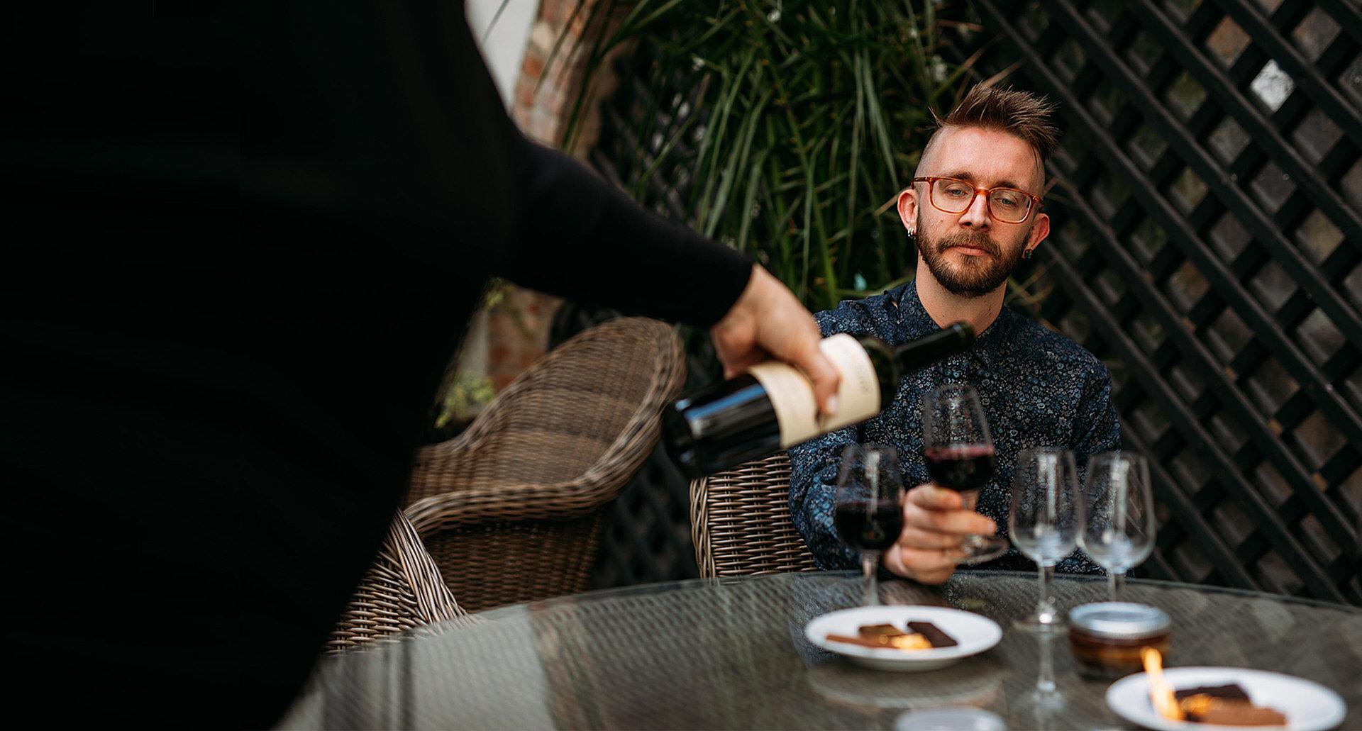 Wine tasting and chocolate pairing