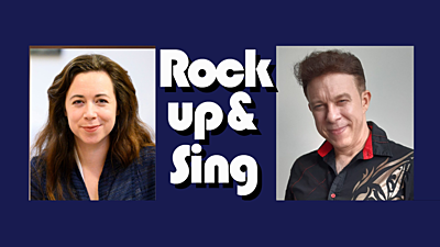 Promo image of hosts for Rock up & Sing
