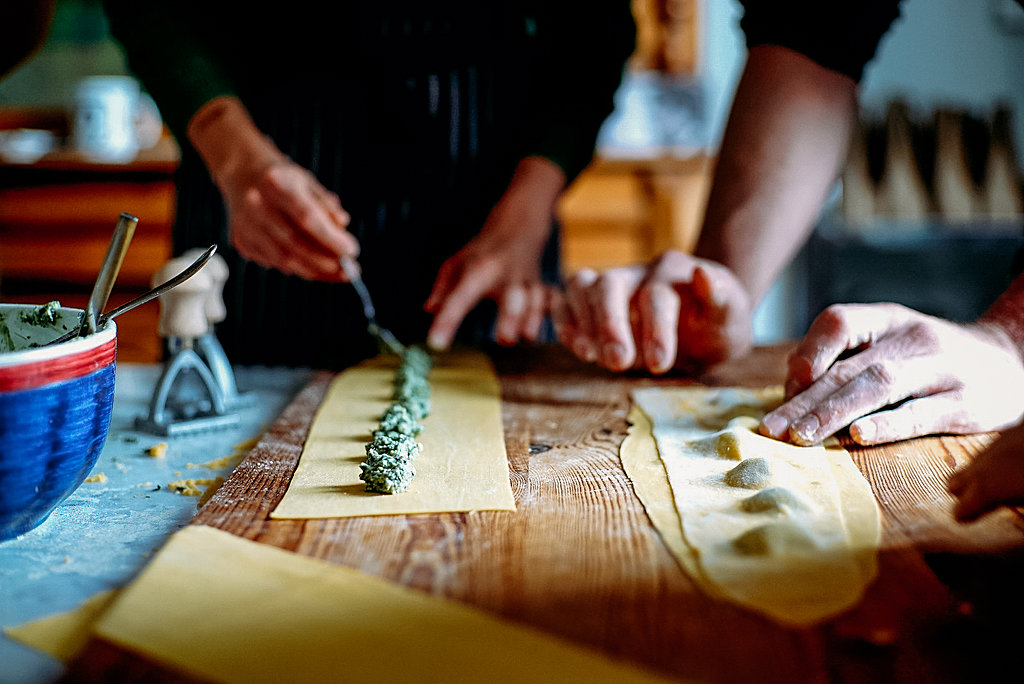 Northern Italian pasta making for two