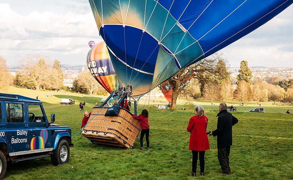 Private champagne balloon flight over Bristol