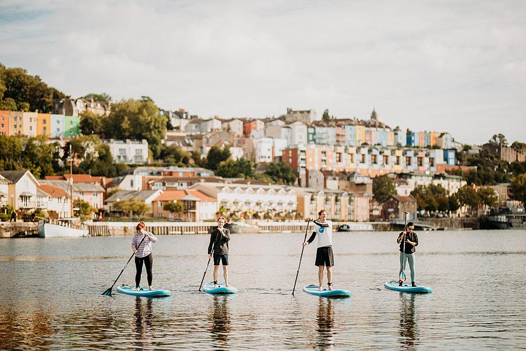 paddleboarding harbourside adventure