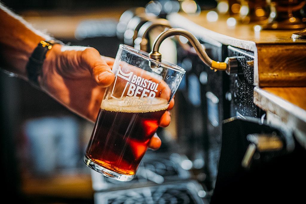 Bristol Beer Factory taproom tasting flight