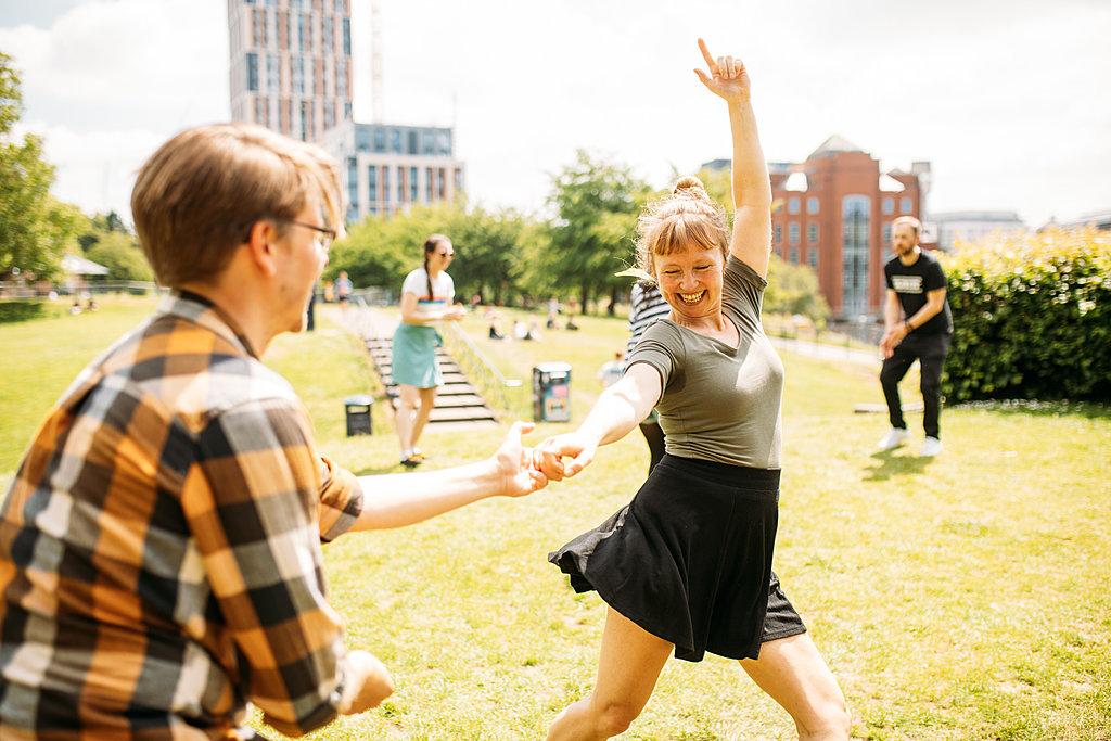 Swing dancing in Bristol