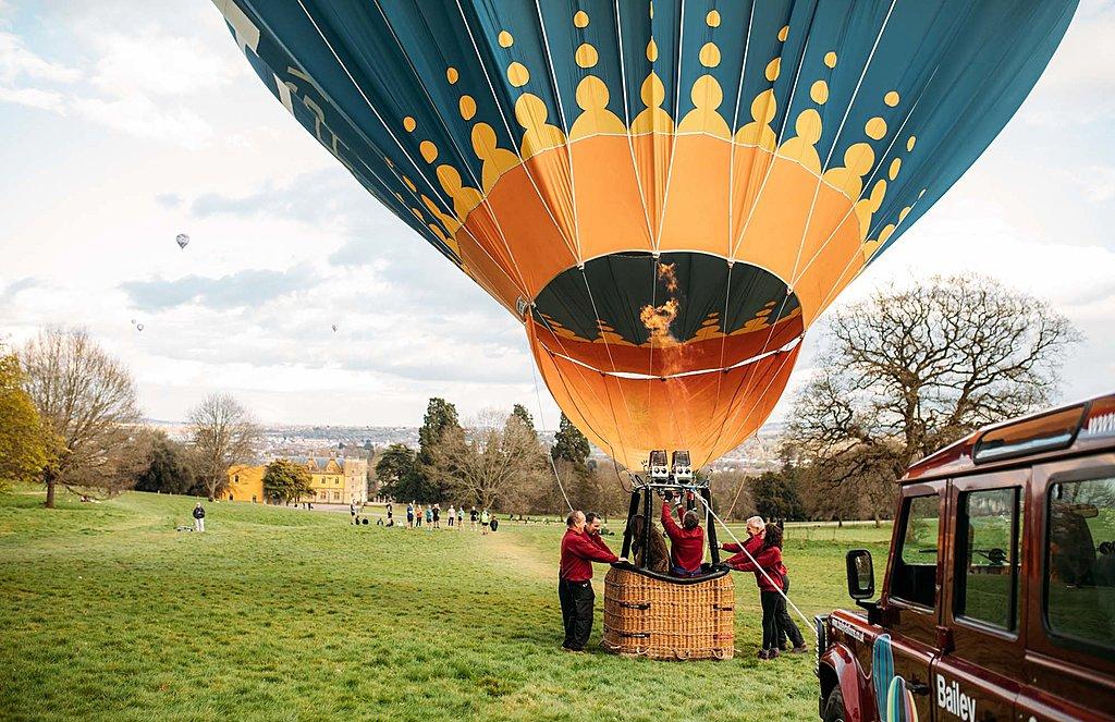 Champagne balloon flight over Bristol