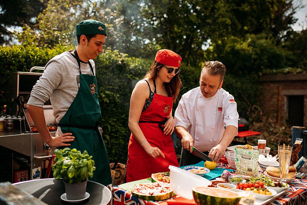 Celebrity chef home barbecue