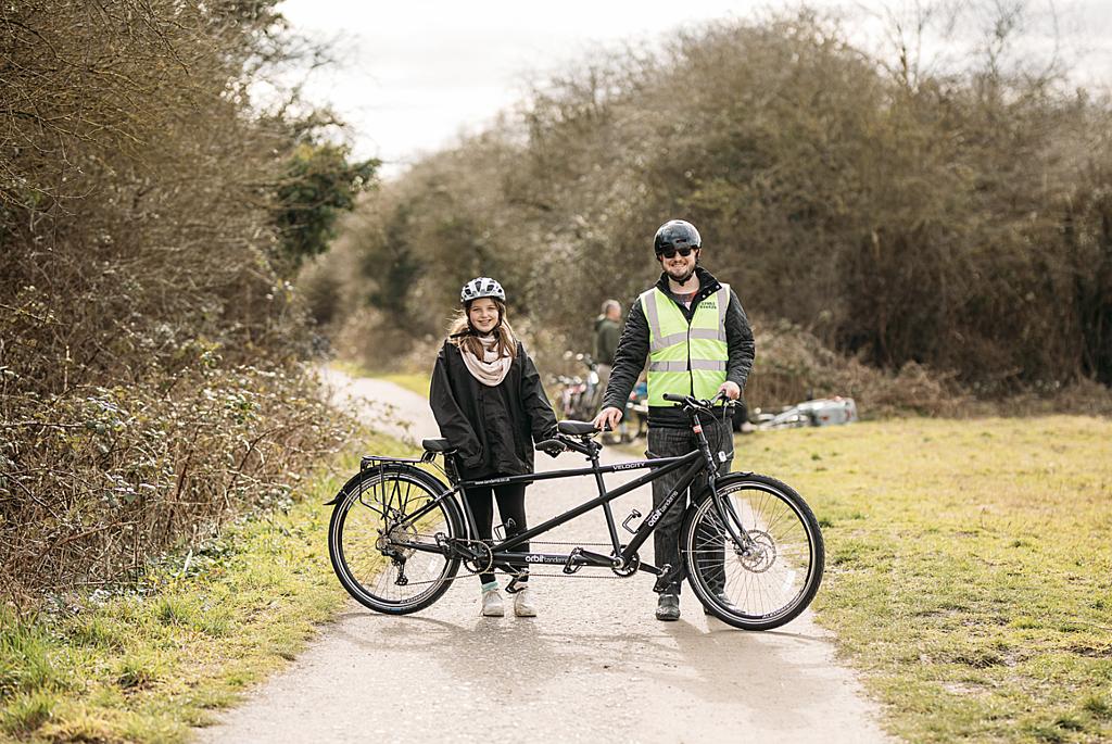 Tandem bike ride and picnic