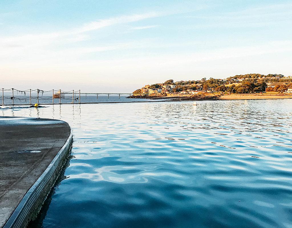 Outdoor swimming at Clevedon Marine Lake
