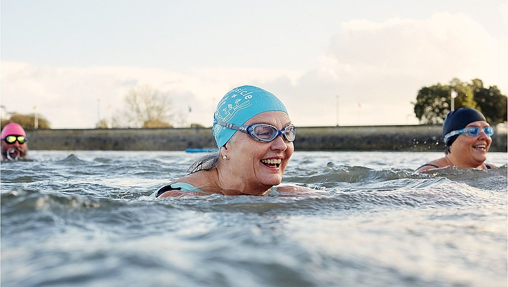 Wellbeing wild swimming ice bath therapy in Bristol